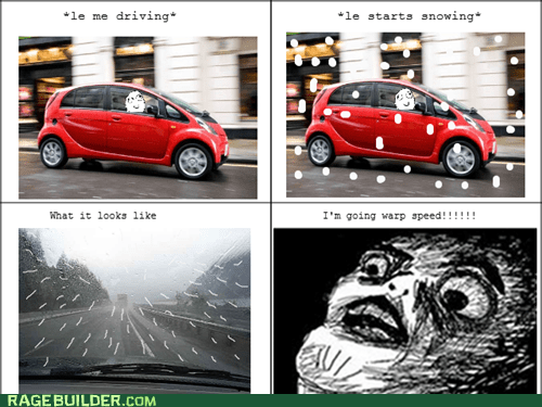 driving,Rage Comics,raisin face,snow