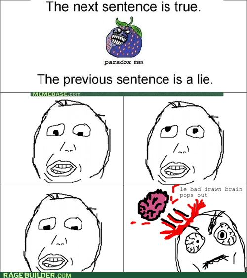 brain,ouch,paradox,Rage Comics