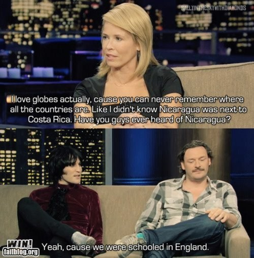 burn,celeb,chelsea handler,education,geography,g rated,Hall of Fame,ouch,sick burn,win