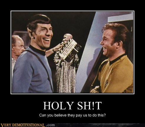 actors,hilarious,kirk,Spock,Star Trek