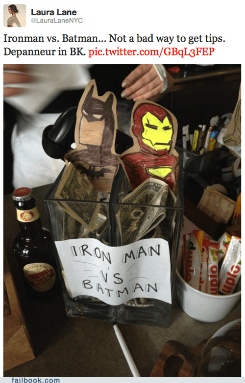 batman iron man pic tips twitter win
