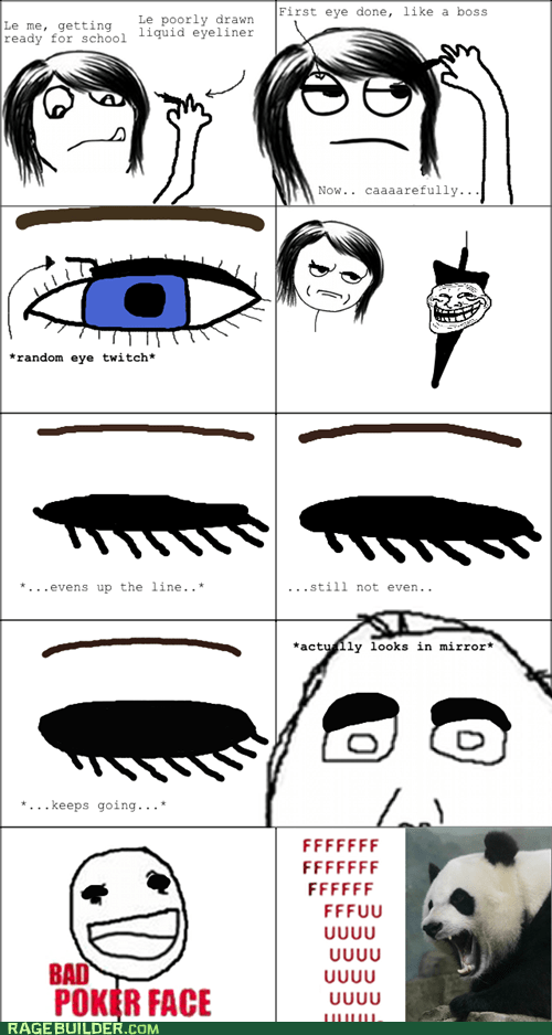 best of week,fu,girl comics,makeup,panda,Rage Comics