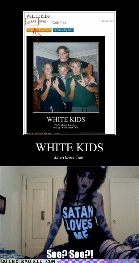 666 satan weird kid white kids - 5658512384