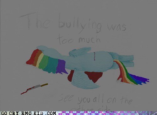 Bronies bullying emolulz MLP rainbow dash - 5658636544