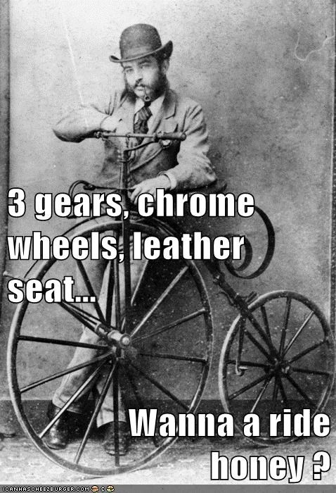 bicycle bike historic lols innuendo want a ride