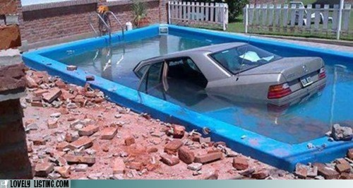 accident car dive oops pool - 5658827264