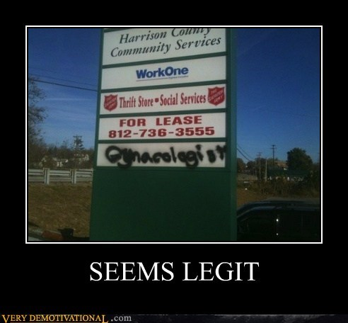 gynocologist,hilarious,lease,seems legit,sign