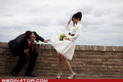 bride,funny wedding photos,groom,wedding dress