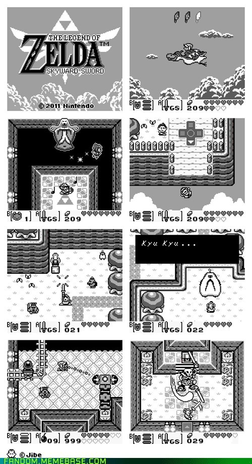 best of week,Fan Art,gameboy-esque,legend of zelda,Skyward Sword