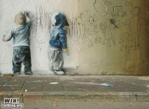 art children doodle drawing graffiti hacked irl Street Art - 5659479552