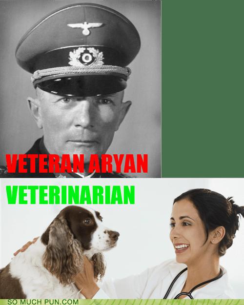 aryan double meaning homophone homophones literalism vet veteran veteranarian - 5659635712