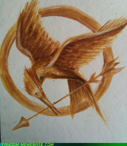 Fan Art fiction mockingjay pin hunger games - 5659849472