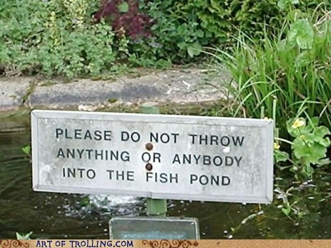 IRL pond sign throw - 5660360448