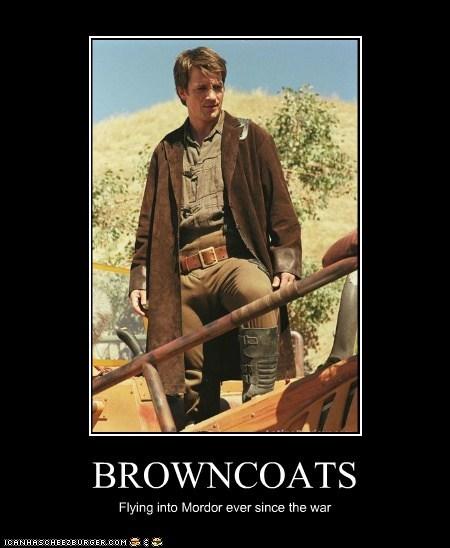 Browncoats captain malcolm reynolds Firefly flying mordor nathan fillion war - 5660719360