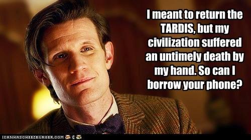 borrow civilization Death Matt Smith phone tardis the doctor - 5660734208