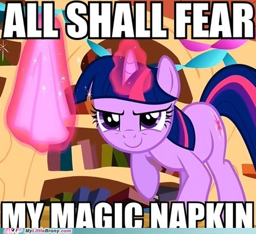 all shall fear clean napkin ponies twilight sparkle - 5660917760