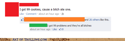 99 problems,cookies,facebook,problems