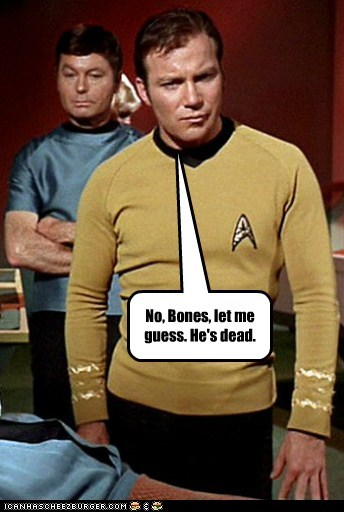 bones,Captain Kirk,dead,DeForest Kelley,guess,McCoy,Shatnerday,Star Trek,William Shatner