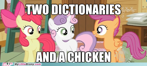 chicken,cmc,cutie marks,dictionaries,meme