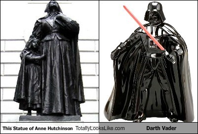anne hutchison,darth vader,funny,statue,TLL