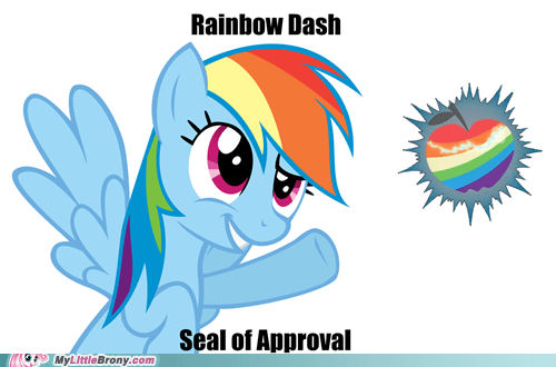 20 Percent Cooler rainbow rainbow dash seal of approval zap apple - 5662701568