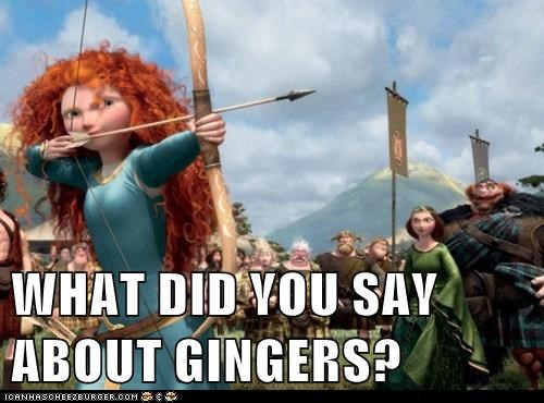 arrow,brave,gingers,pixar,what did you say