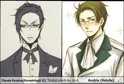 Claude Faustus(Kuroshitsuji II) Totally Looks Like Austria (Hetalia)