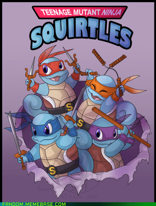 best of week,crossover,Fan Art,Pokémon,squirtle,TMNT