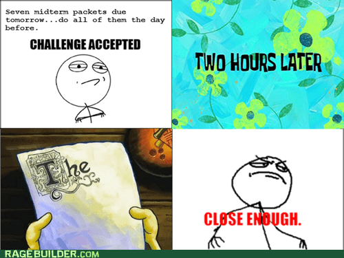 Challenge Accepted Close Enough notes Rage Comics - 5664141056