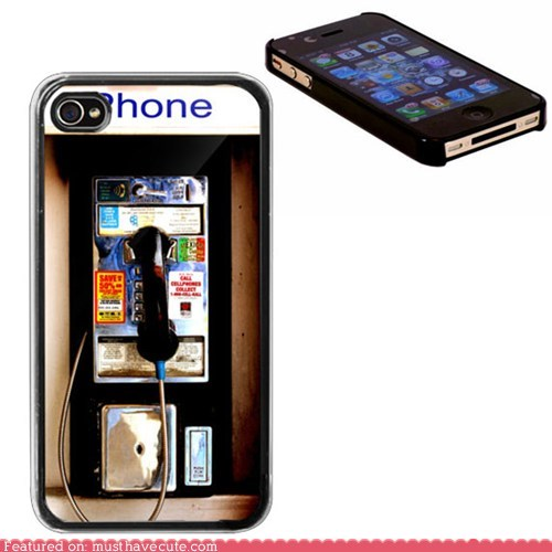 case design iphone nostalgia pay phone - 5664300544