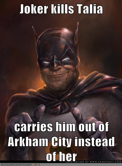 Arkham Asylum,dead,joker,Super-Lols,talia