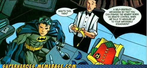 alfred batman robin self destruct Straight off the Page - 5665157376