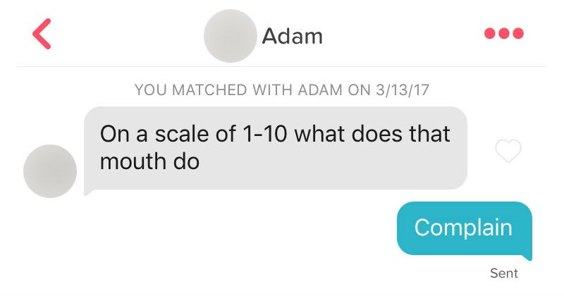 tinder conversation about the abilities of the mouth