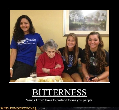 angry bitter hilarious old lady young girls - 5665710336