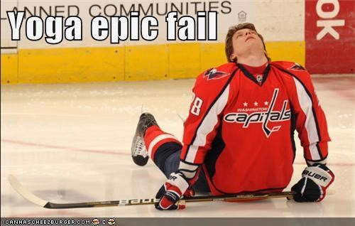 FAIL,hockey,Up Next in Sports,washington capitals,yoga