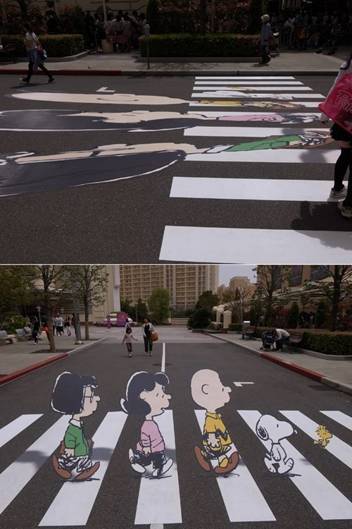 abbey road peanuts Street Art - 5666441984