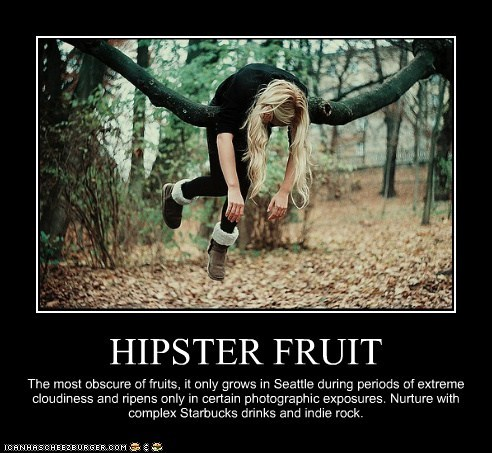 best of week fruit hipster hipsterlulz indie rock seattle Starbucks - 5666600448