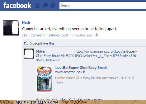 facebook,falling apart,life,super glue