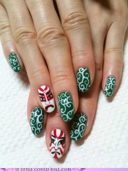 cool accessories,Japan,kabuki,nail art,nails