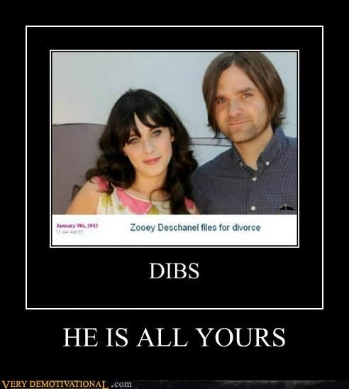 dibs divorce hilarious husband zooey deschanel - 5668232704