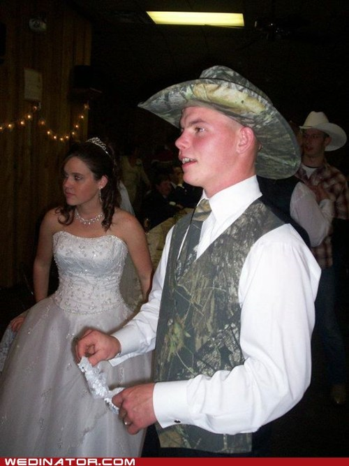 cowboy funny wedding photos hunting - 5669359360