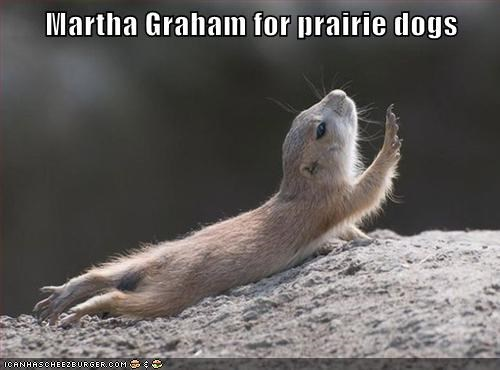 animals,dancing,dramatic,Martha Graham,prairie dog
