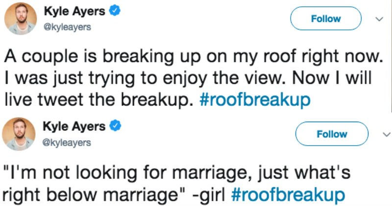 neighbors twitter live tweet ridiculous breakup dramatic - 5670661