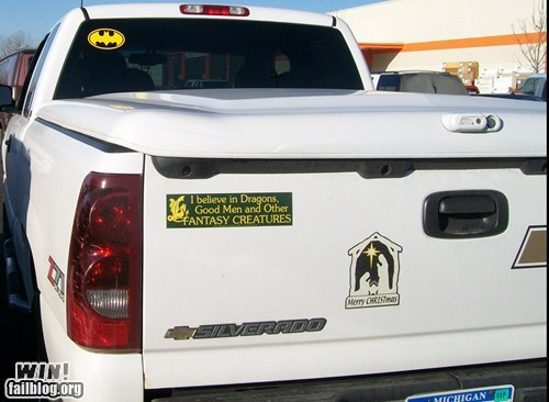 batman,believer,bumper sticker,fantasy,truck