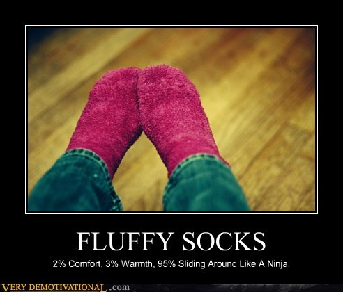Fluffy Pure Awesome sliding socks wtf - 5670788864