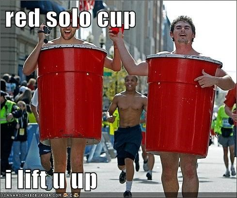 horrible songs i lift you up Red Solo Cup - 5670905088