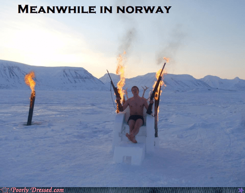 fire guns meanwhile in Norway Norway Scandinavians tusks - 5670951936