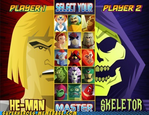 Awesome Art,fight,he man,skeletor,video games,wtf