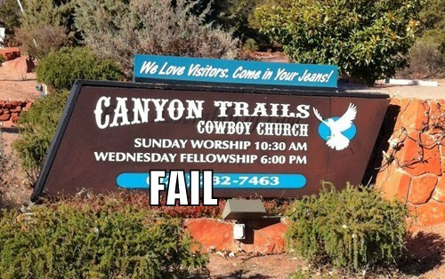 church signs innuendo religion - 5671162624