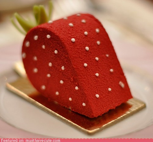 cake epicute red seeds strawberry - 5671213312